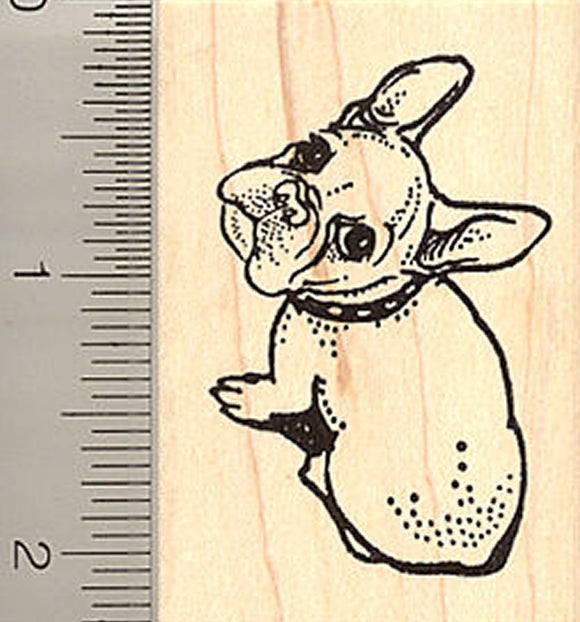 Cute French Bulldog Rubber Stamp
