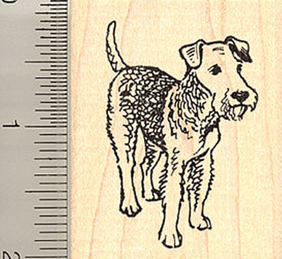 Wire Haired Fox Terrier Dog Rubber Stamp