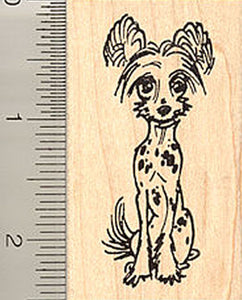 Chinese Crested Dog Rubber Stamp