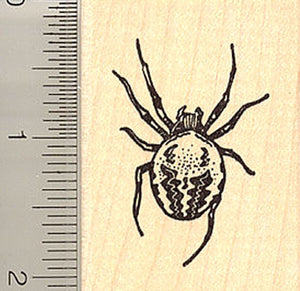 Large Garden Spider Rubber Stamp