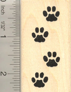 Cat Paw Prints Rubber Stamp