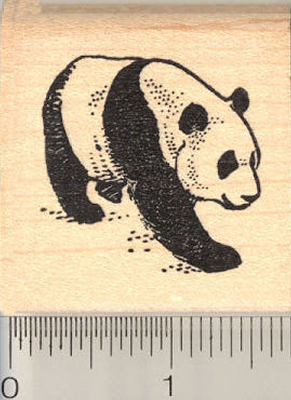 Giant Panda Rubber Stamp