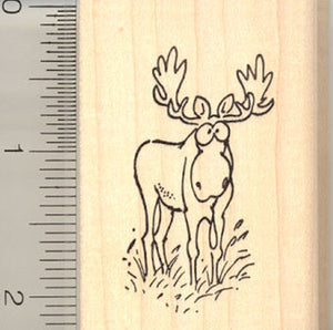Comic Moose Rubber Stamp