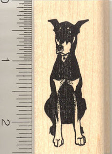 Doberman Pinscher Rubber Stamp