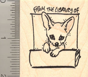 From the Library of…Fennec Fox Rubber Stamp