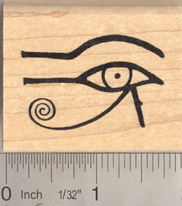 Eye of Horus Egyptian Rubber Stamp, AKA Eye of Ra or Eye of Wedjat (His right eye, on your left if you were facing him)