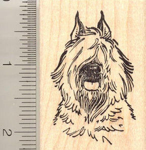 Bouvier des Flandres Dog Rubber Stamp