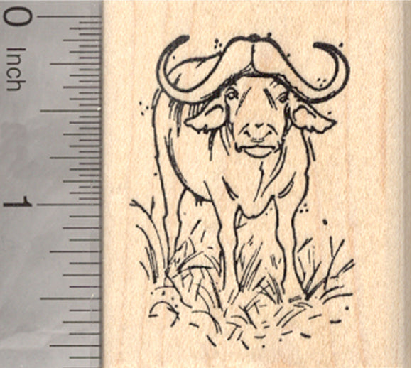 Water Buffalo Rubber Stamp
