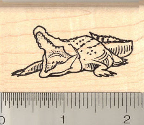 Crocodile Rubber Stamp