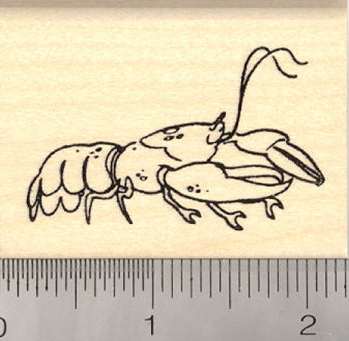 Lobster Rubber Stamp