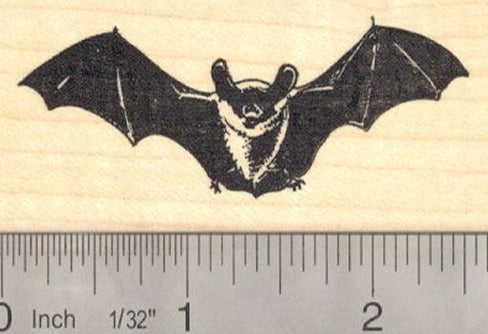 Realistic Bat Rubber Stamp