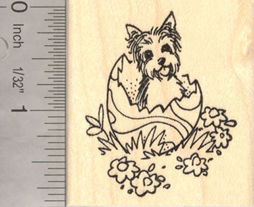 Cairn Terrier Easter Rubber Stamp