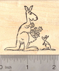 Mother and child Kangaroo, Mother's Day Stamp