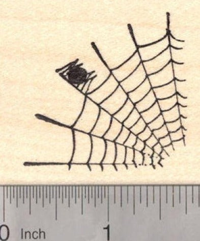 Spider Web, Halloween Rubber Stamp