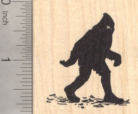 Bigfoot Rubber Stamp, Sasquatch, Yeti, Folklore, Big Foot