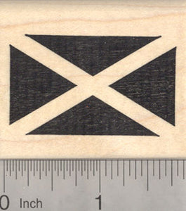 Flag of Scotland Rubber Stamp, Saltire, Saint Andrew's Cross