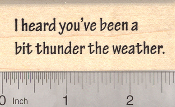 Get Well Soon Rubber Stamp, Thunder the Weather