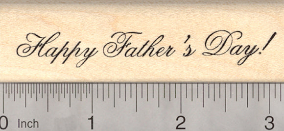 Happy Father's Day Rubber Stamp