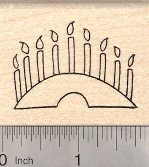 Menorah Rubber Stamp, Hanukkah, Chanukah, Jewish