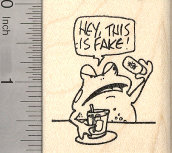 April Fool's Day Frog Rubber Stamp, Fake Fly Ice Cube