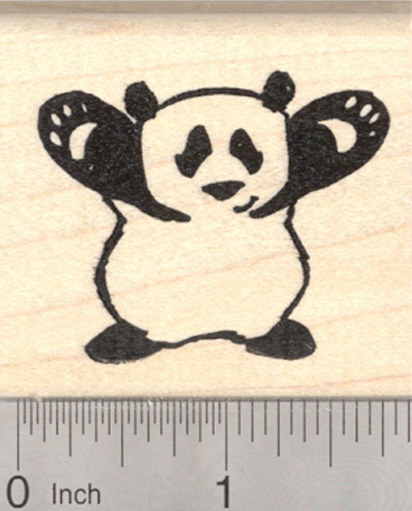 Giant Panda Rubber Stamp, Bear Hug Pose