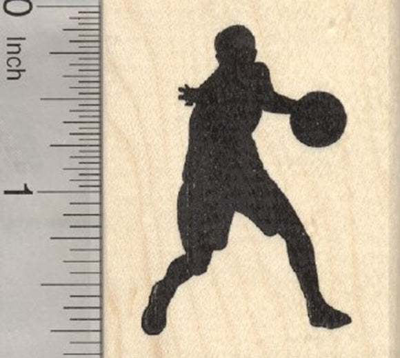 Girl Basketball Player Rubber Stamp