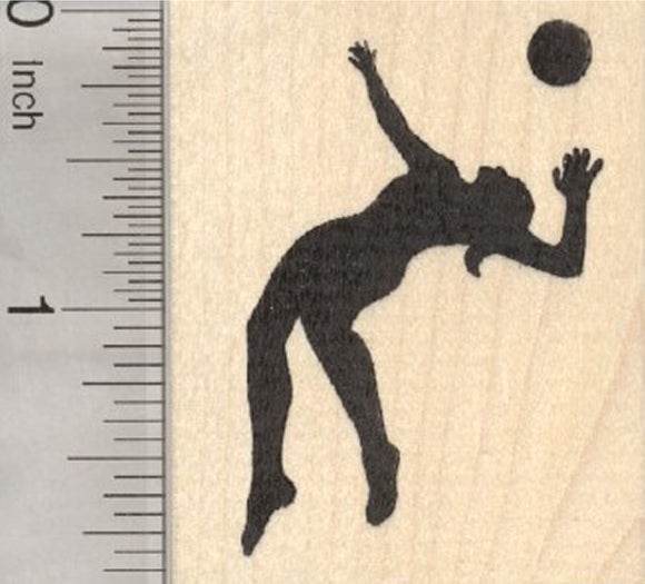 Volleyball Player Rubber Stamp