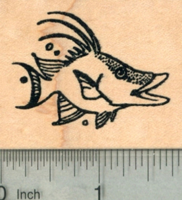 Hogfish Rubber Stamp