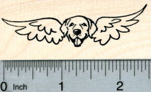 Dog Angel Rubber Stamp, Labrador Retriever