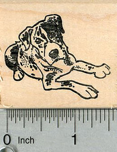 Great Dane Rubber Stamp, Dog