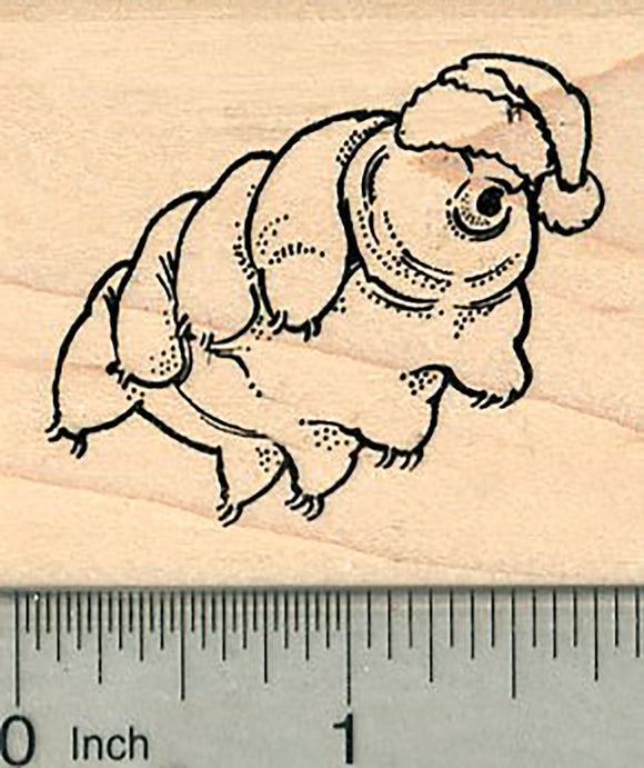 Christmas Taridgrade Rubber Stamp, in Santa Hat