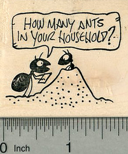 Census Ants Rubber Stamp, Enumerator at Ant Hill