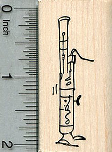 Bassoon Rubber Stamp, with Feet, Woodwind Orchestra Music Series