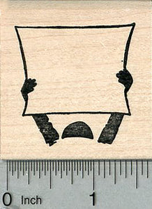 Blank Sign Rubber Stamp, Write in your own message, Voting Series