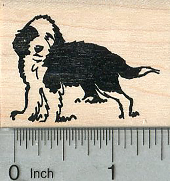 Sheepadoodle Rubber Stamp, Sheep Dog Poodle Cross Breed