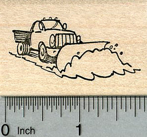 Snow Plow Rubber Stamp, Snow Day Series