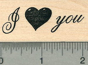 I Heart you Rubber Stamp, Love and Friendship Series