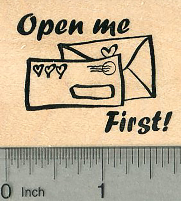Open Me Rubber Stamp, Letter Mail Postal Series