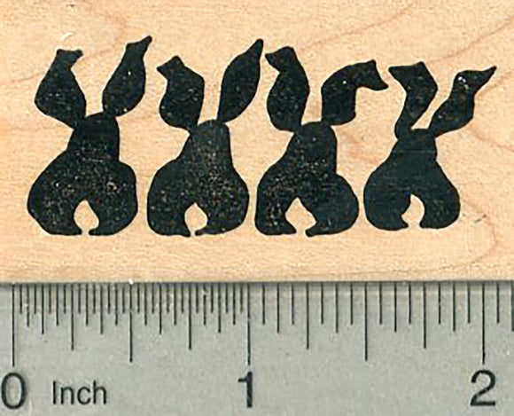 Hare Line Rubber Stamp, Easter Series