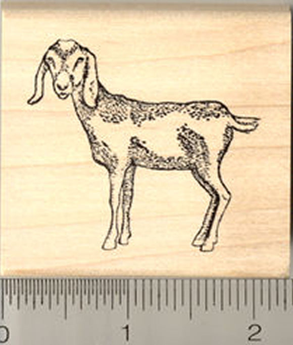 Nubian Goat Rubber Stamp