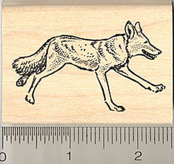 Coyote Running Rubber Stamp
