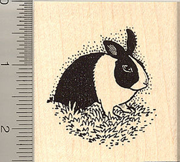 Dutch Bunny Rabbit Rubber Stamp