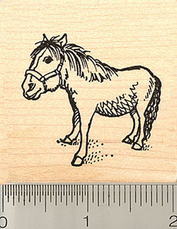 Miniature Horse Rubber Stamp