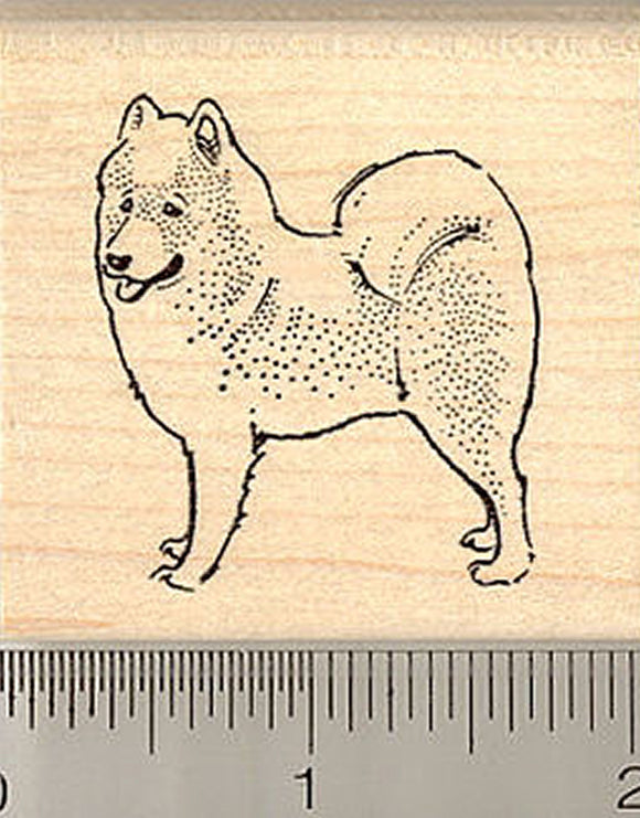 Samoyed Dog Rubber Stamp