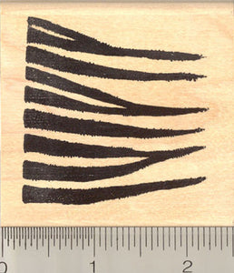 Zebra Stripes Rubber Stamp