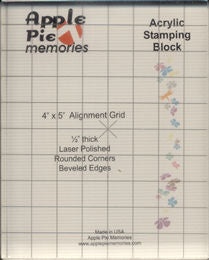 Apple Pie Memories Acrylic Stamping Block - 4