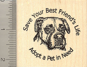 Adopt a Pet (Boxer Dog Rescue) Rubber Stamp