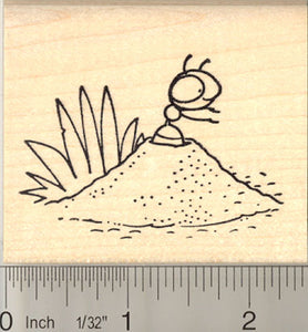 Ant Hill Rubber Stamp