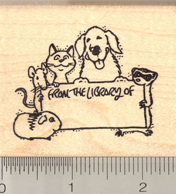 From the Library of…Multi Pet Rubber Stamp