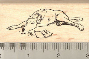 Christmas Greyhound Rubber Stamp